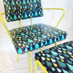 Furniture Refurb: 1950's Swivel Chair with Tula Pink's Raindrops