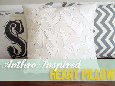 Anthro-Inspired Heart Pillow