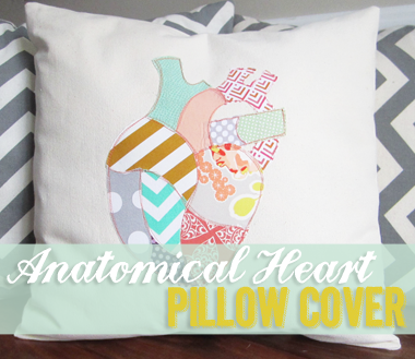 Anatomical Heart Pillow Cover