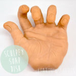 Sculpey Soap Dish || Severed Hand ||Hearts & Sharts || heartsandsharts.com