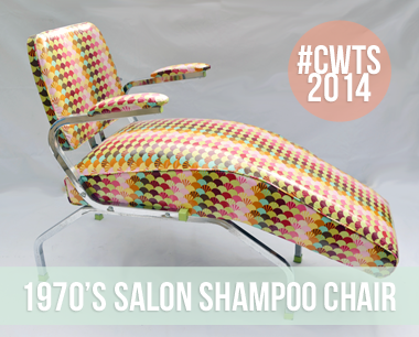 Furniture Refurb: 1970's Salon Shampoo Chair
