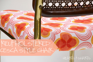 Furniture Refurb: Reupholstered Cesca Style Chair