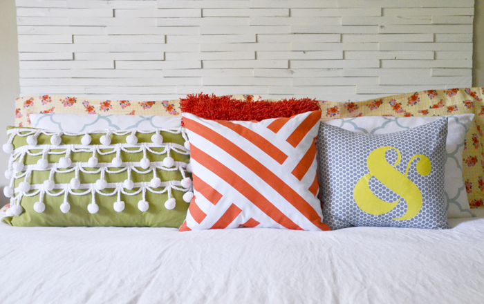 DIY Graphic Painted Pillow