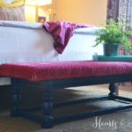 Turning A Coffee Table into Upholstered Bench | Hearts & Sharts | www.heartsandsharts.com
