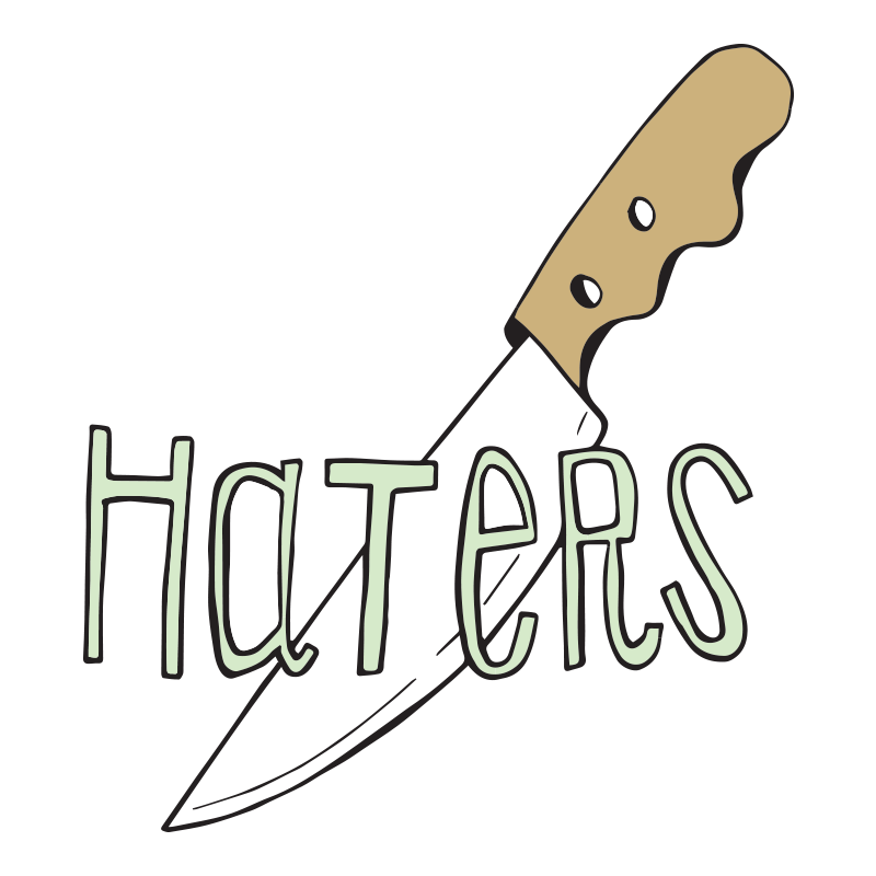 HATERS BUTTON FOR BLOG