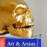 Gold Spray Painted Thrift Store Skull | Hearts & Sharts