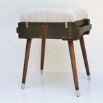 Diamond Tufted Ammo Footstool || Hearts & Sharts