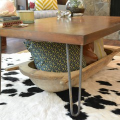 Rustic Industrial Coffee Table Makeover || Hearts & Sharts