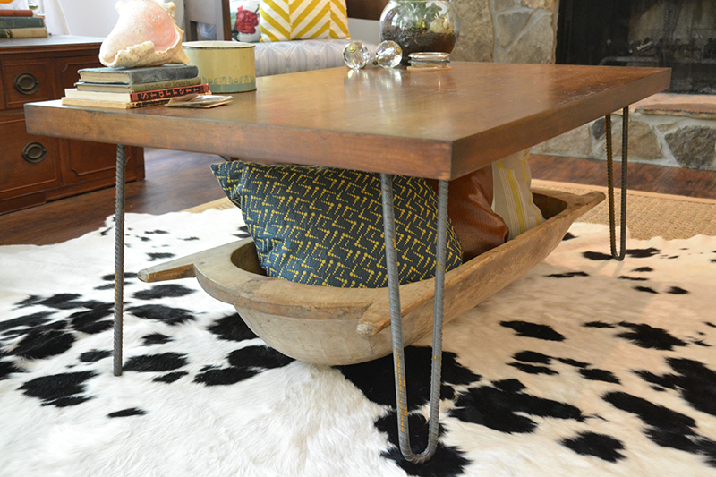 Rustic-Industrial Coffee Table Makeover