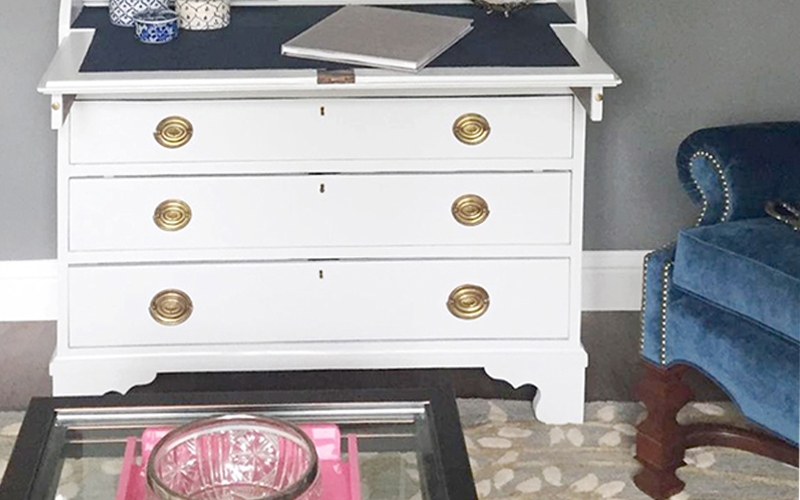 Antique Secretary Makeover