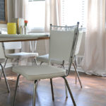 Retro Dinette Set || Painting Vinyl Upholstery || Hearts & Sharts