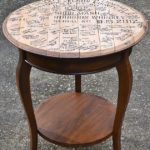 Whiskey Barrel Top End Tables || Wedding Guest Book || Hearts & Sharts || heartsandsharts.com