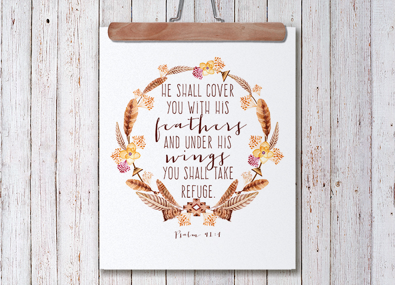 Free Thanksgiving Printable || Psalm 91