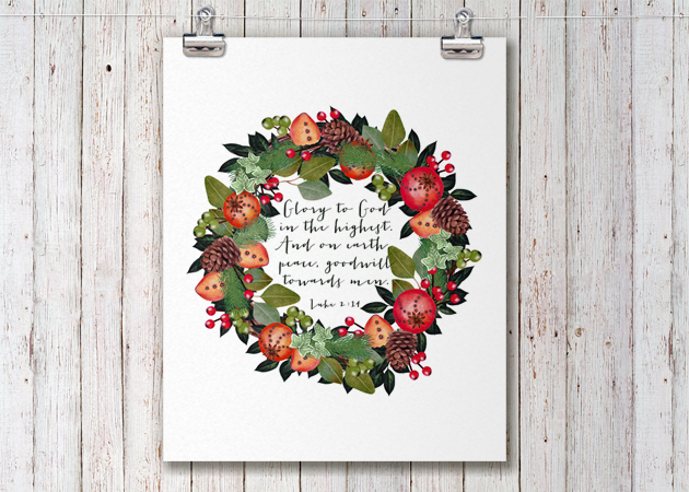 Free Christmas Printable || Luke 2