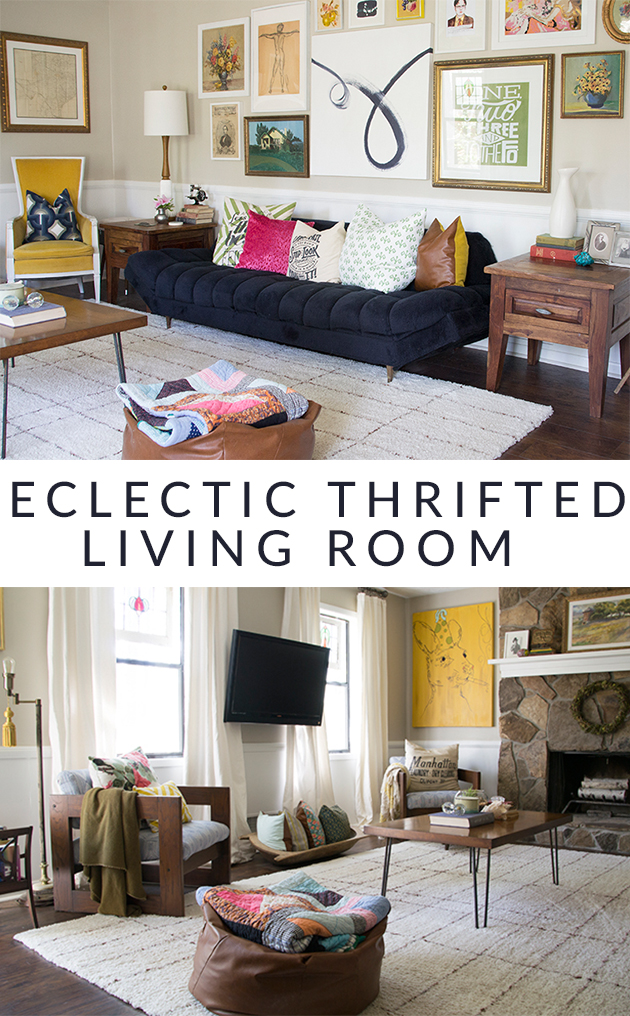 Rustic Mid-Century Living Room Makeover || Hearts & Sharts