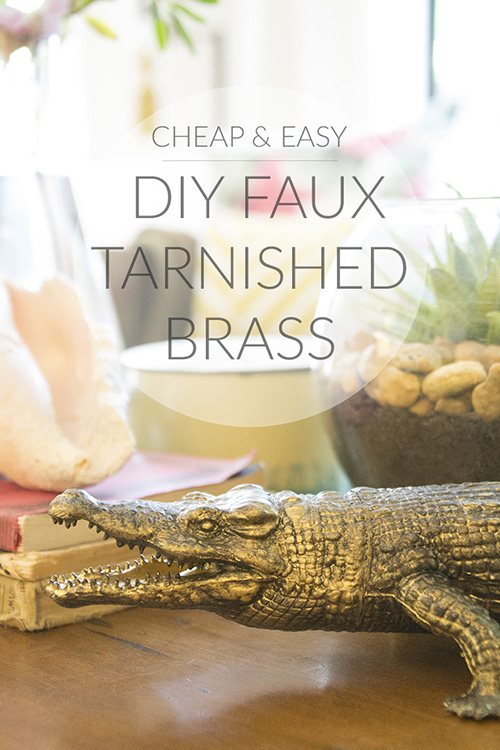 DIY Faux Tarnished Brass Finish || Hearts & Sharts