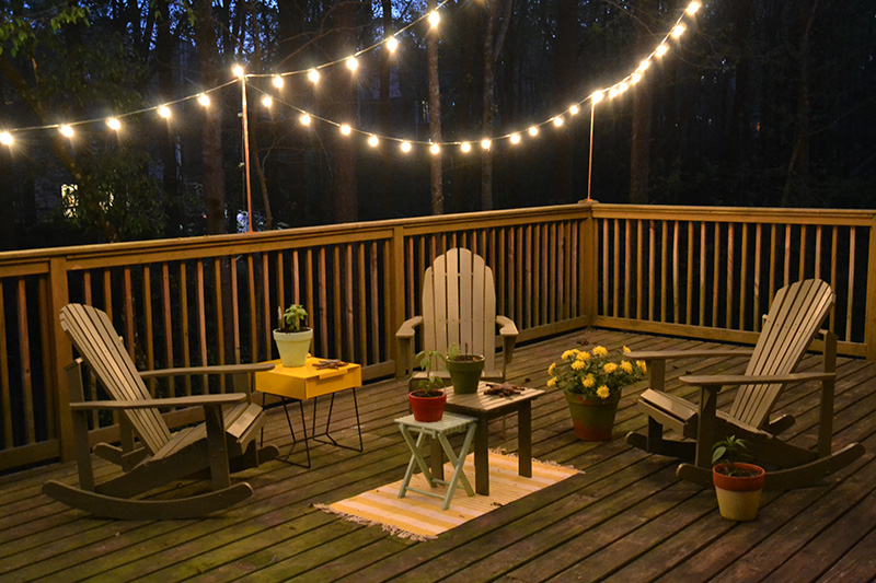 diy deck lighting hearts sharts