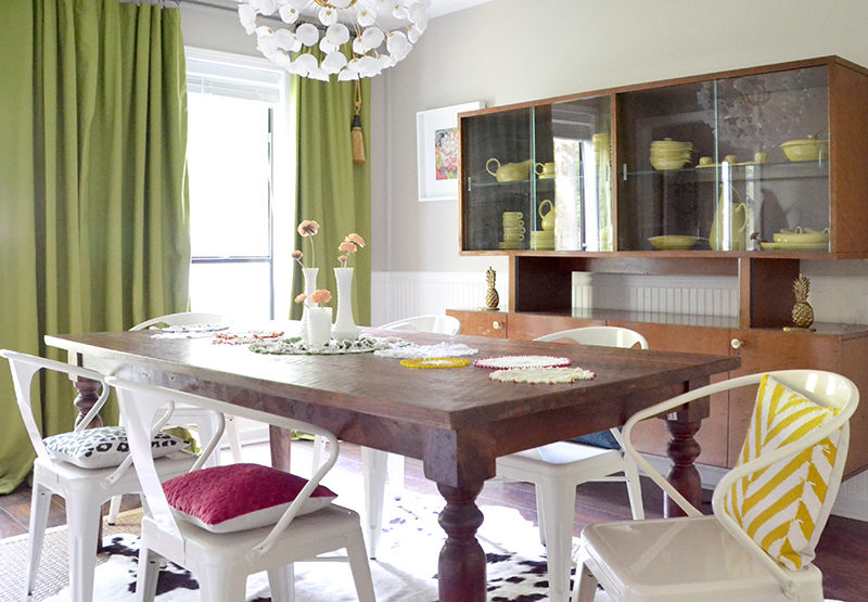 Colorful Eclectic Modern Dining Room