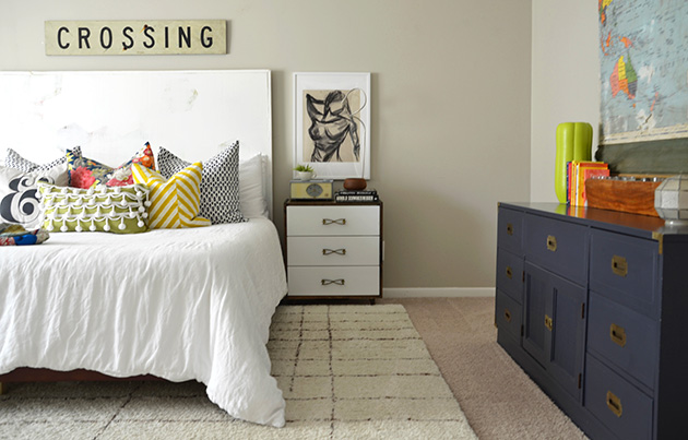 Thrifted Eclectic Master Bedroom || Hearts & Sharts