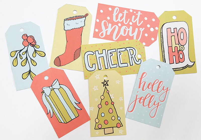 Free Printable Gift Tags + A Quick Favor