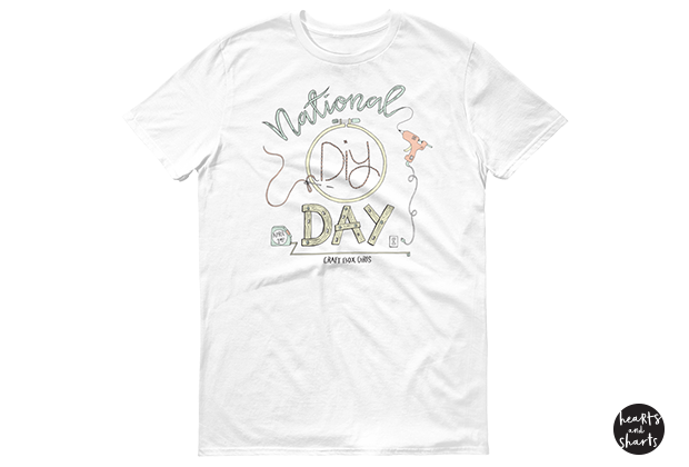 National DIY Day || Shirt Illustration for the Craft Box Girls